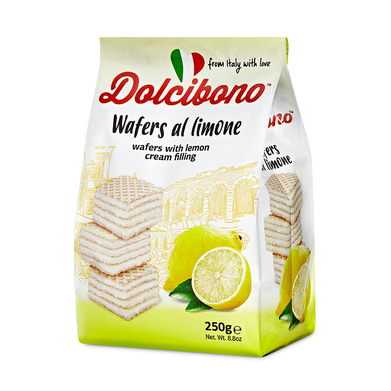 Dolcibono Wafers With Lemon Cream Filling - 8.8oz (250g)