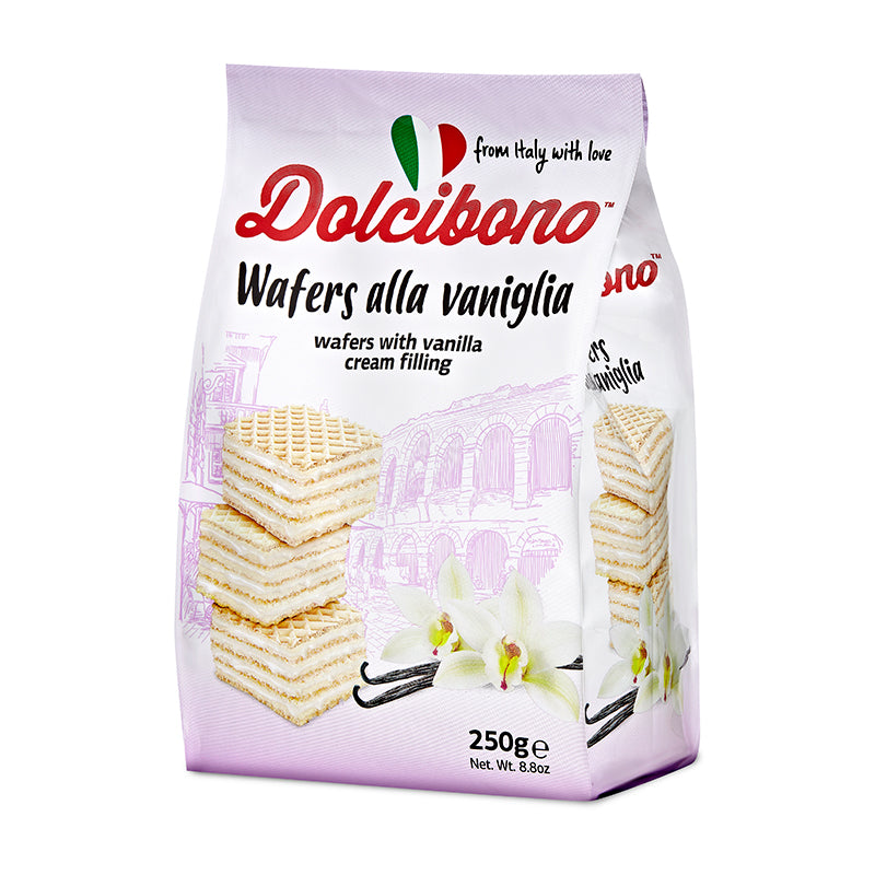 Dolcibono Wafers With Vanilla Cream Filling - 8.8oz (250g)