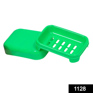 1128 Covered Soap keeping Plastic Case for Bathroom use - DeoDap