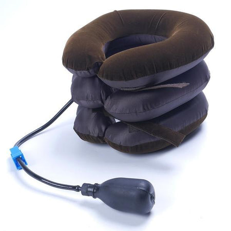0514 Three Layers Neck Traction Pillow - DeoDap