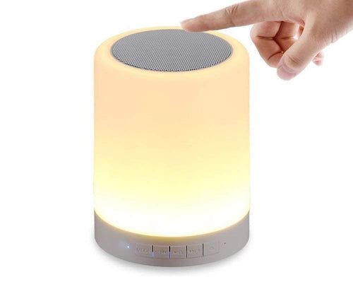 00001 LED Touch Lamp Bluetooth Speaker, Wireless HiFi Speaker Light, USB Rechargeable Portable with TWS