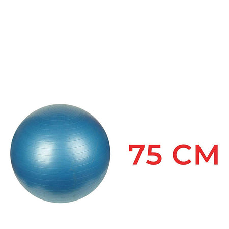 0580 Anti-Burst Gym Ball with Pump (75 cm) - DeoDap