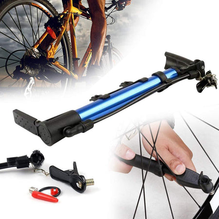 0544 Aluminum Mini Bicycle Air Pump (Multicolor) - DeoDap
