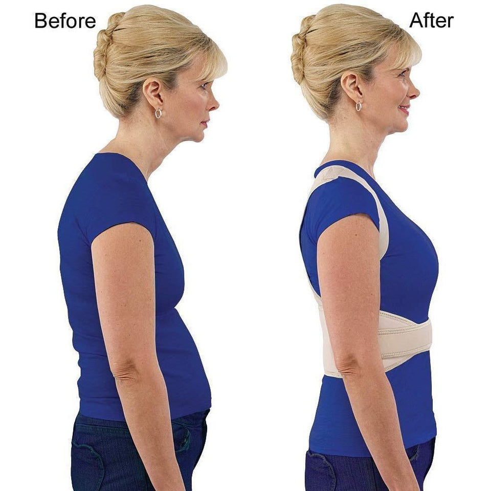 0377  Adjustable Royal Posture Back Support Brace Unisex - Bulkysellers.com
