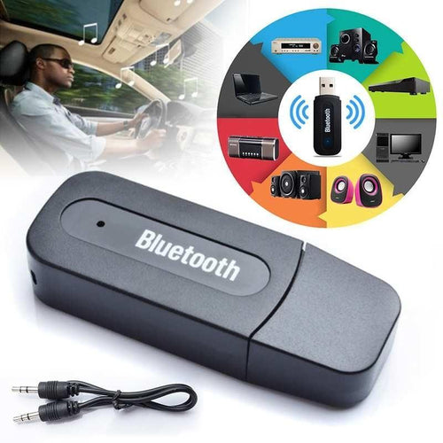 0531 USB Wireless/Bluetooth 3.5mm Aux Audio Receiver Adapter - DeoDap