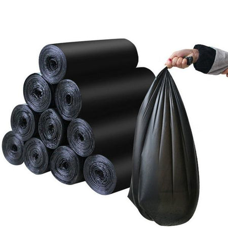 1575 Garbage Bags Medium Size Black Colour (24 x 32) - 15 pcs - DeoDap