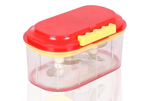 0071 Plastic Vegetable Chopper Set (3 Pcs, Orange) - Bulkysellers.com