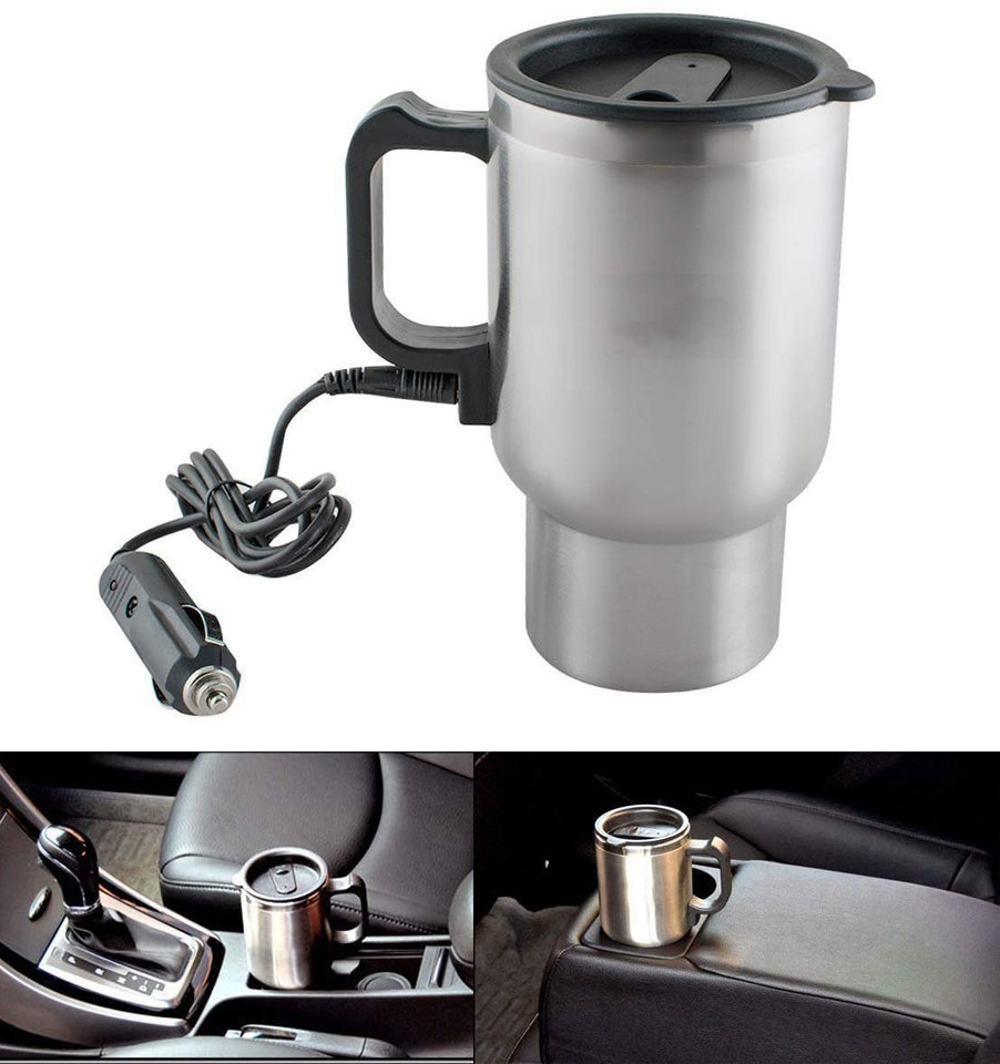 0551 -12V Car Charging Electric Kettle Mug (Silver) - Bulkysellers.com