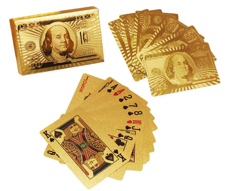 0523 Gold Plated Poker Playing Cards (Golden) - DeoDap