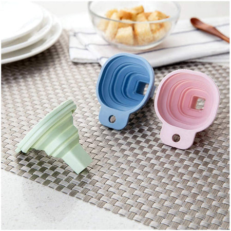0828 Flexible Silicone Foldable Kitchen Funnel for Liquid/Powder Transfer Hopper Food (Small) - Bulkysellers.com