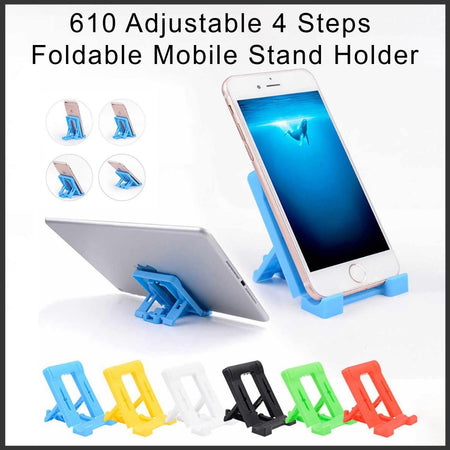 0610 Adjustable 4 Steps Foldable Mobile Stand Holder (1 pc) - Bulkysellers.com