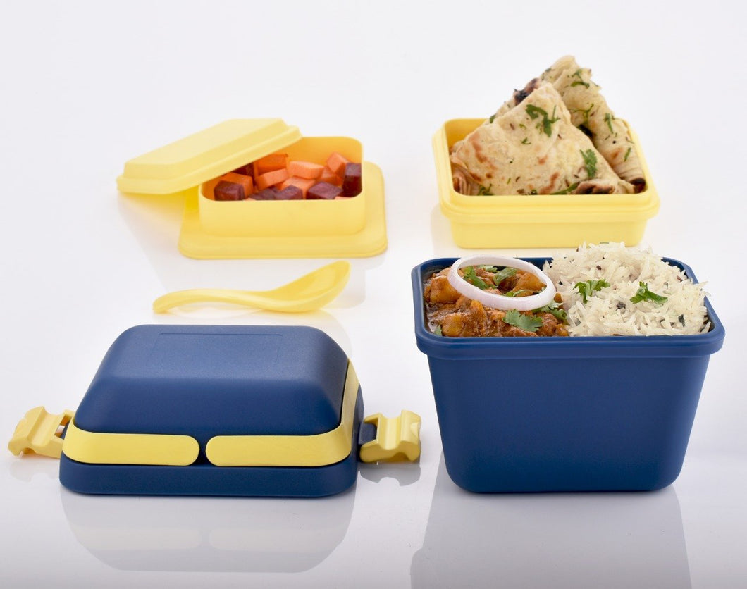 2144 Airtight Lunch Box with Handle & Push Lock - DeoDap