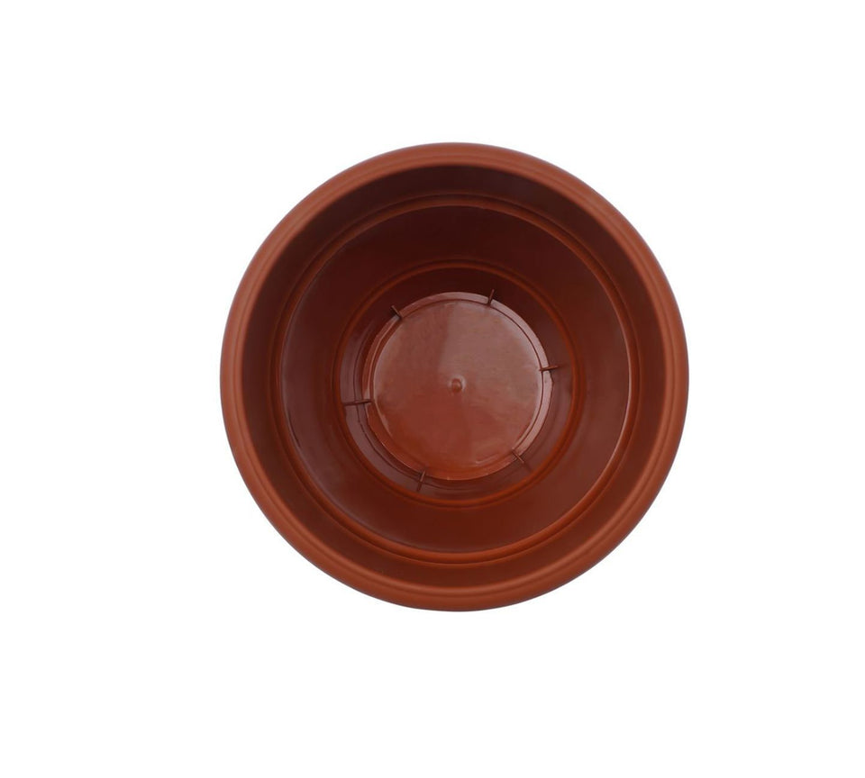 0839 Garden Heavy Plastic Planter Pot/Gamla 6 inch (Brown, Pack of 1, Small) - Bulkysellers.com