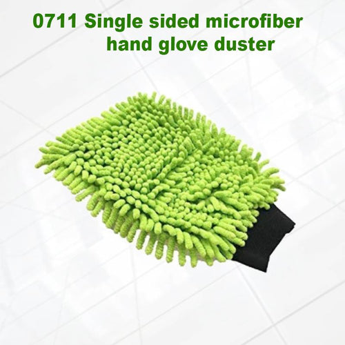 0711 Single sided microfiber hand glove duster