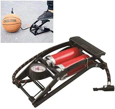 0709 Dual-Cylinder Foot Pump, Portable Floor Bike Pump, 150PSI Air Pump - Bulkysellers.com