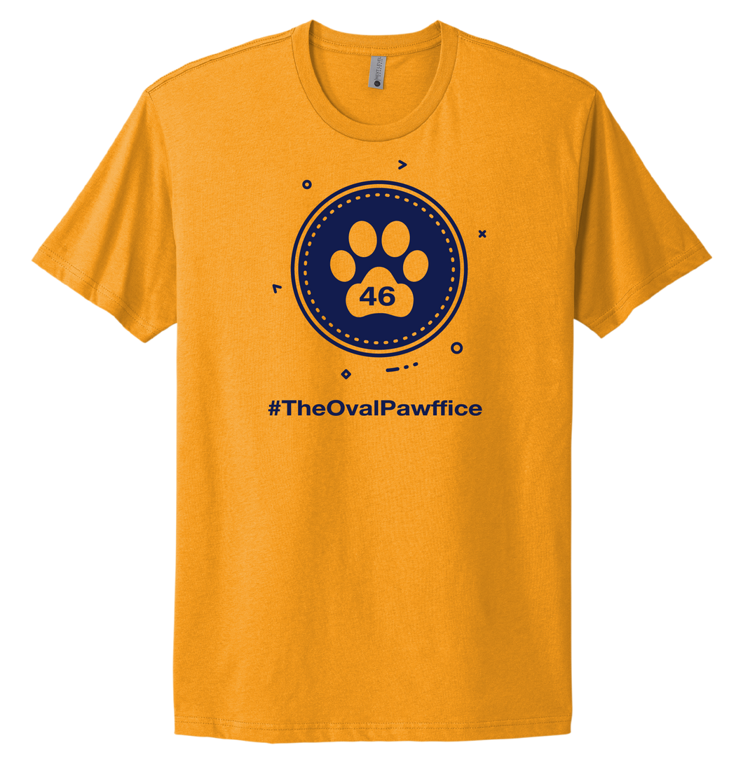 The Oval Pawffice T-shirt - Yellow