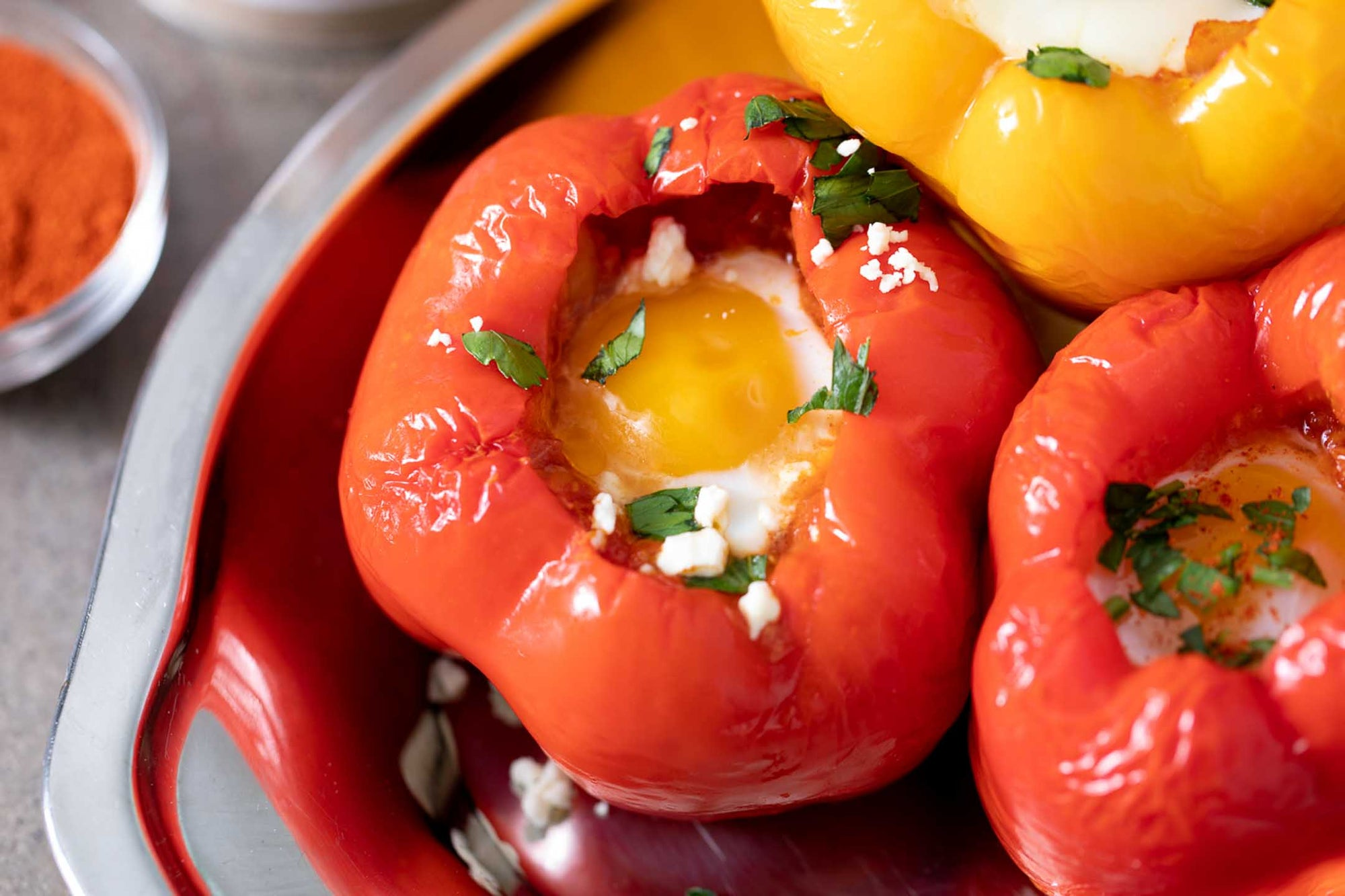 Recipe - Eggs in Bell Pepper Purgatory