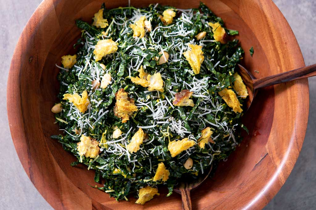 Recipe - Kale Salad with Liquid Gold Dressing and Golden Croutons