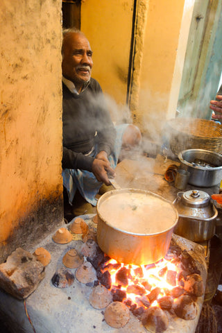 Chai Wallah serving Masala Chai
