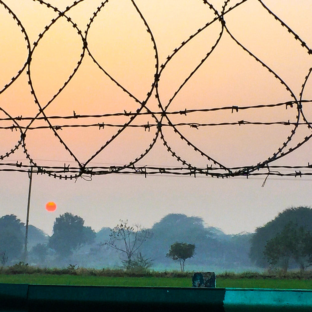 Sunset on the Agra Highway