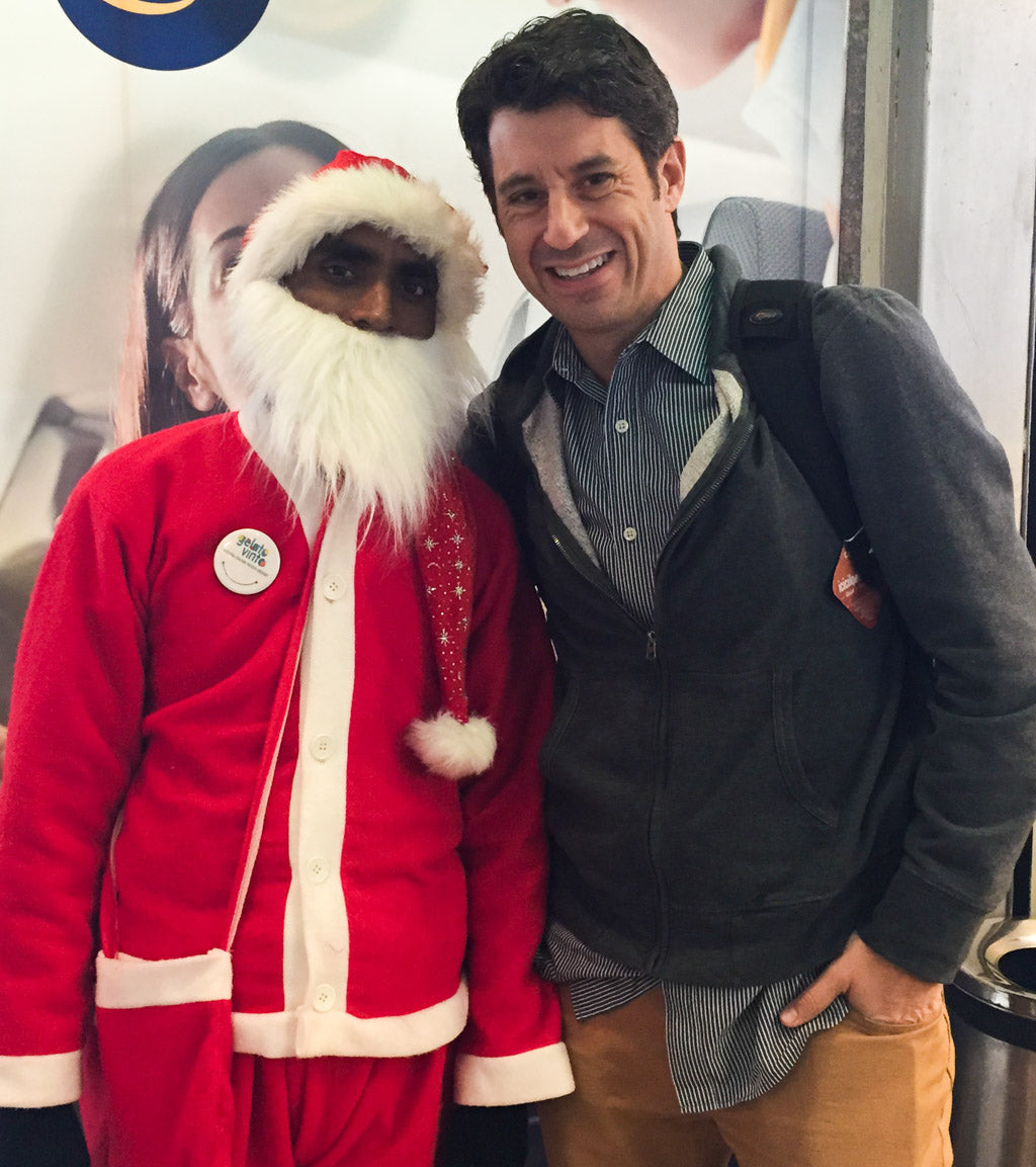 Catching up with Santa in Dehli