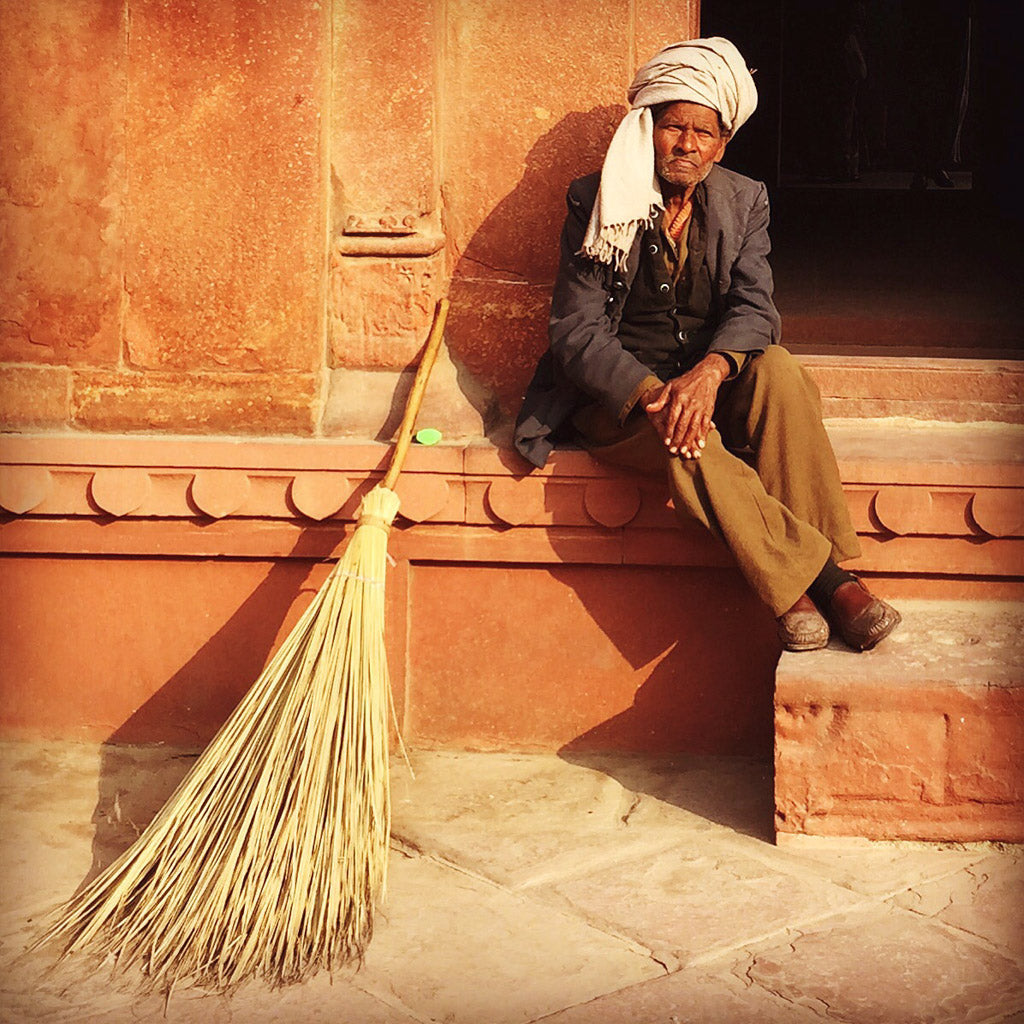 Sweeper in Agra
