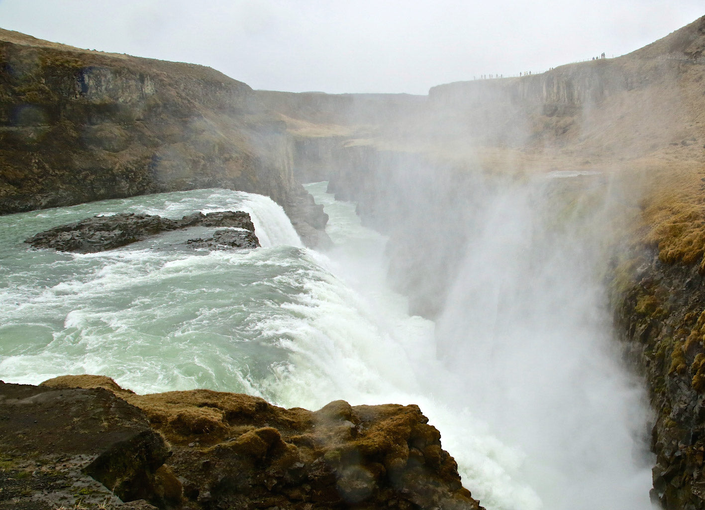 The Great Gullfoss Waterfall