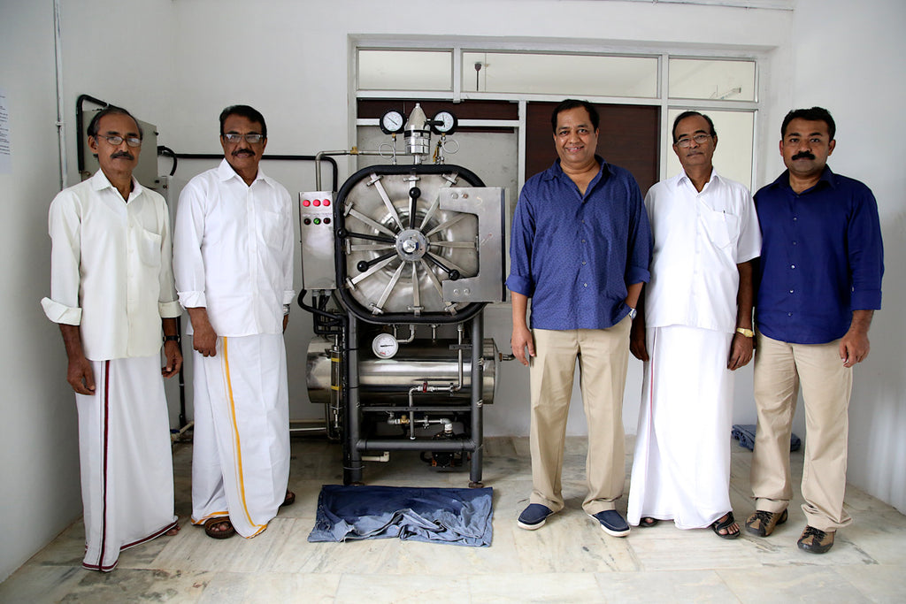 My partner Divakar and his staff in Kerala, India