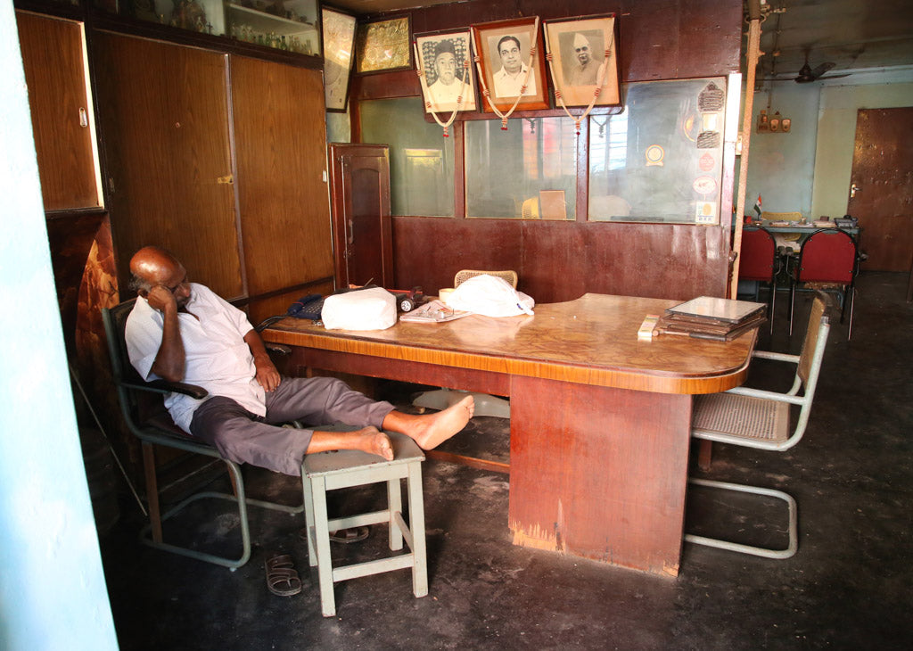 Sleeping man in Kochi India