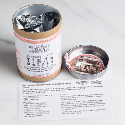 Each tube of Bollywood Theater Tikka Masala comes with a free recipe inside