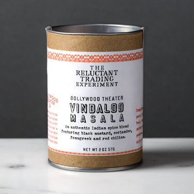 Bollywood Theater Authentic Indian Masala Spice Set includes one Vindaloo Masala 2 oz tube