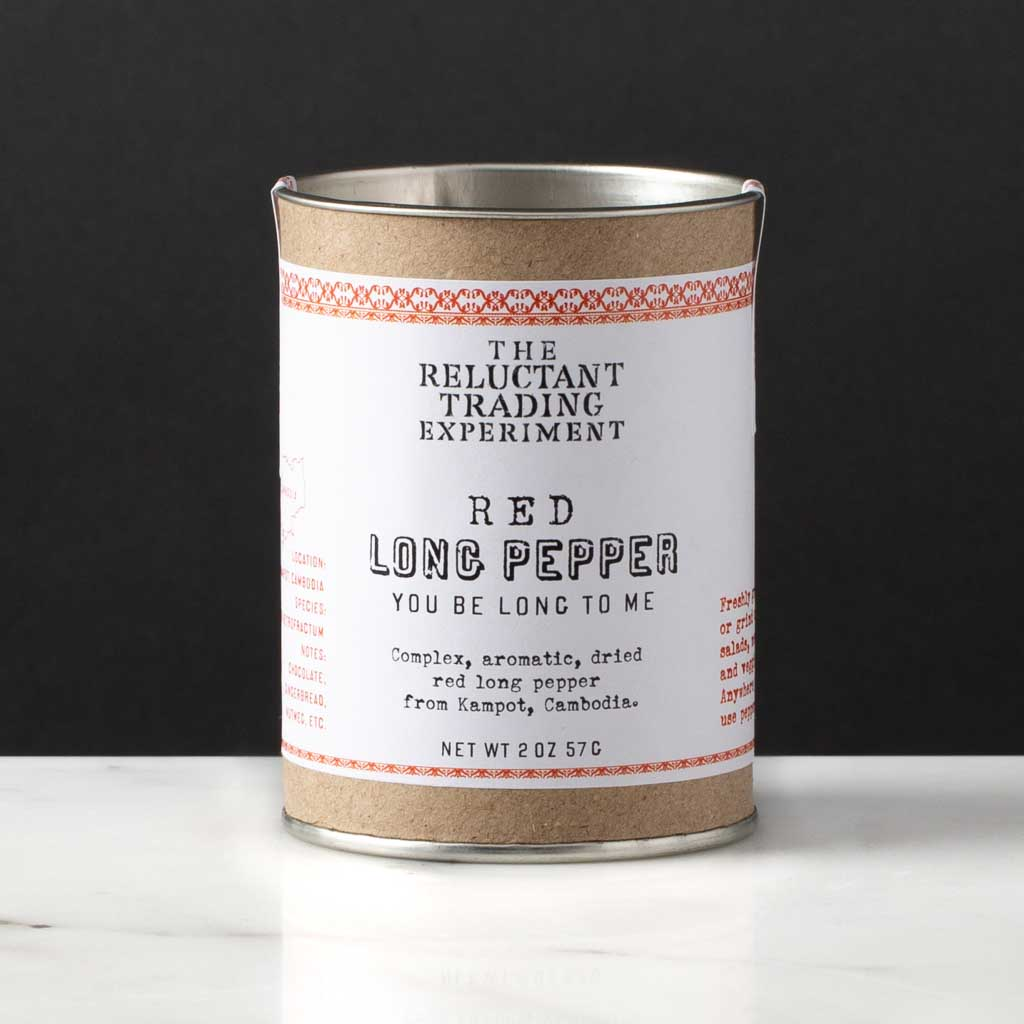 Long Pepper, Red Kampot, 2oz Tube, Best Long Pepper