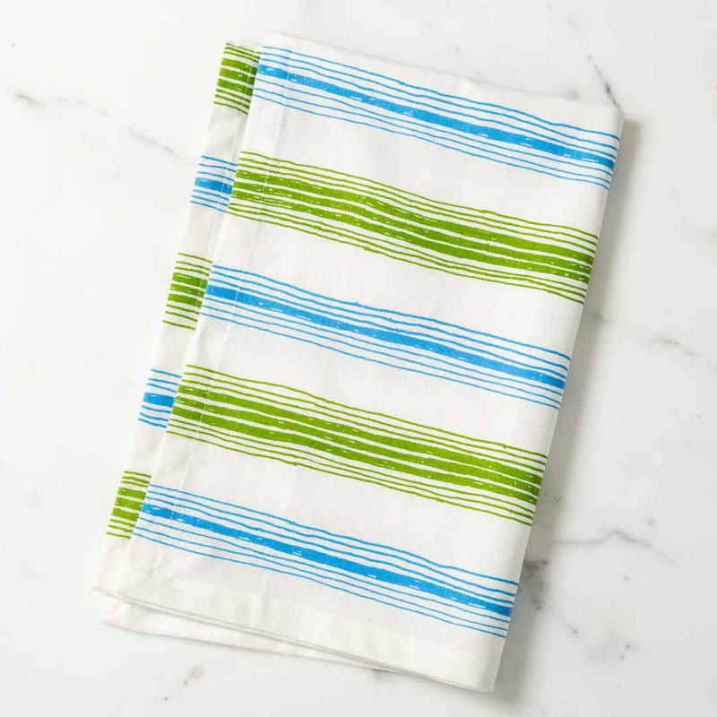 Graphic Stripes Illustrated Modern Tea Towel Dish Towel