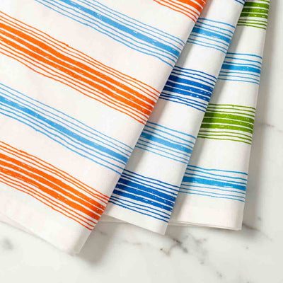 Graphic Stripe Illustrated Tea Towel Dish Towel