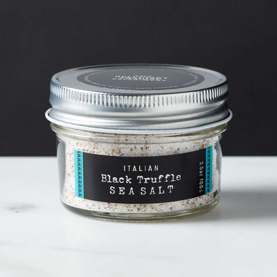 Italian Black Truffle Sea Salt Abruzzo Italy 3.5oz Glass Jar