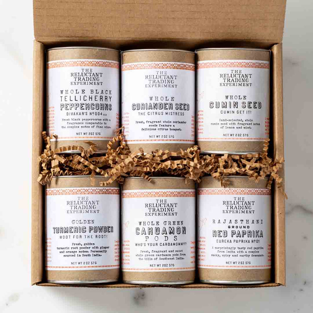 Best of India Divakar's Indian Six-Pack Spice Sampler Gift Box
