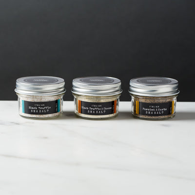 Italian Black Truffle Sea Salt, Truffle Salt with Parmesan, Porcini Salt with Herbs