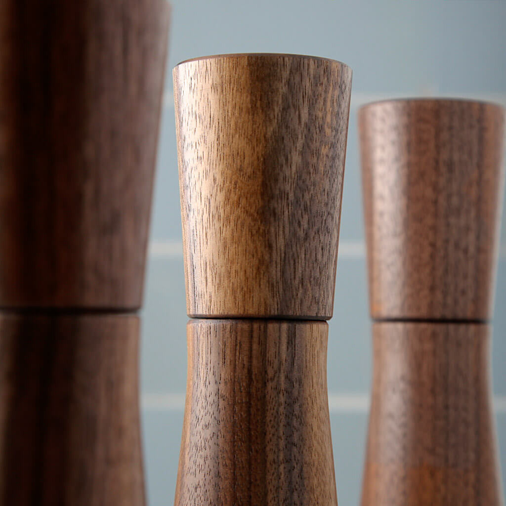 modern salt or pepper mill dark walnut crushgrind h – the  - magnus salt or pepper mill