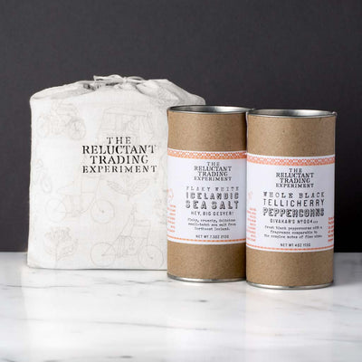 Medium 7.5oz Icelandic Salt and 4oz Tellicherry Pepper Gift Set
