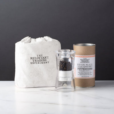 Tellicherry Peppercorn Modern Acrylic CrushGrind Mill Gift Set