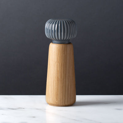 Danish Modern Pepper Mill Grinder, Kahler, Svend, Slate Gray Ceramic and Oak Wood