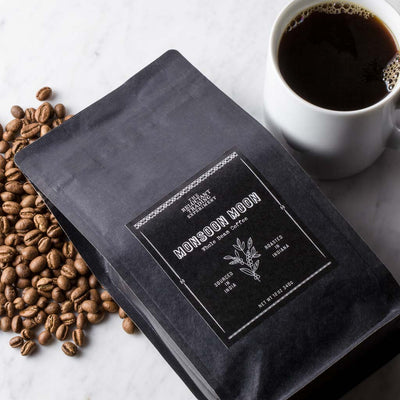 Monsoon Moon Peaberry Coffee Whole Bean Coffee from India