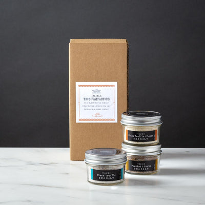 Italian Sea Salt Gift Box 3 Glass Jars