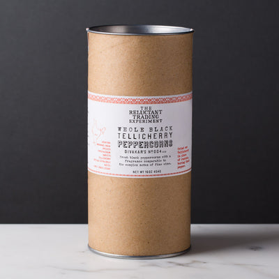 Whole Black Tellicherry Peppercorns Special Extra Bold 16 oz Tube
