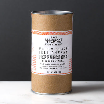 Whole Black Tellicherry Peppercorns Special Extra Bold 4 oz Tube