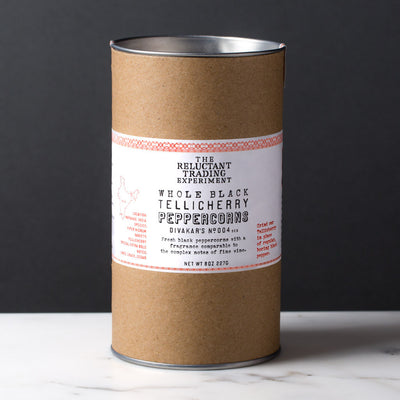 Whole Black Tellicherry Peppercorns Special Extra Bold 8 oz Tube