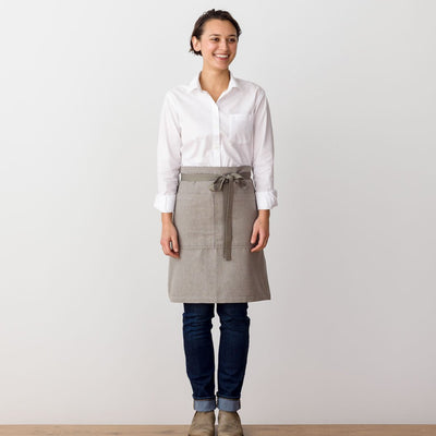 Bistro Apron, Tan, Beige, Server Apron, Professional, Men and Women, The Reluctant Trading Experiment