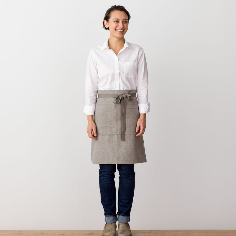 Bistro Apron, Tan, Beige, Server Side view, Professional, Men and Women, Reluctant Trading