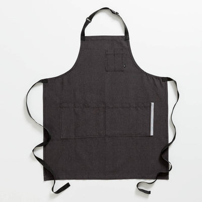 Chef's Apron, Charcoal with Black Straps, Men or Women-The Reluctant Trading Experiment