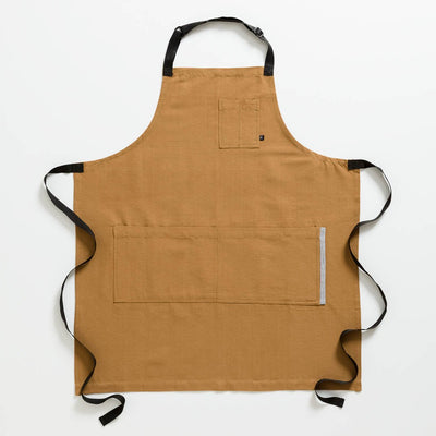 Chef's Apron, Ochre with Black Straps, Men or Women, Carhartt color, workwear-Reluctant Trading
